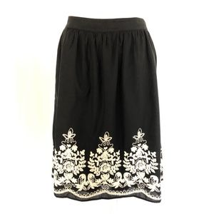 Isla Maude Anthropologie Skirt A Line Embroidered